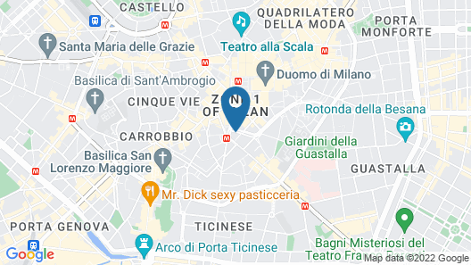 The Square Milano Duomo Map