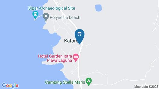 Apartments Polynesia Plava Laguna Map