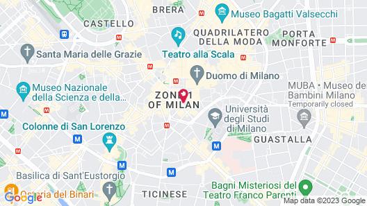 Luxury Suite Milano Duomo Map