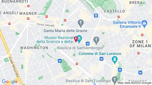 B&B Hotel Milano Sant'Ambrogio Map