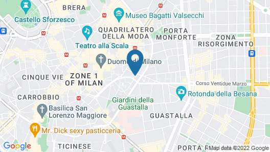 NH Collection Milano President Map