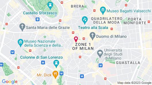 Hotel Spadari Al Duomo Map