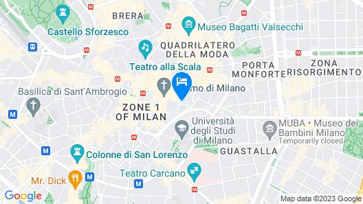 Rosa Grand Milano - Starhotels Collezione Map