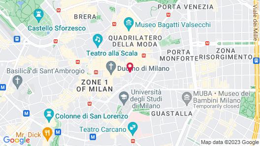iH Hotels Milano Ambasciatori Map