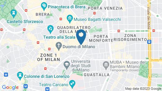 Milhouse Suites Duomo Penthouse Map