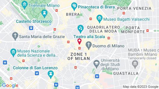 Room Mate Giulia Map