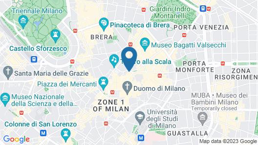 The Corner Duomo Hotel Map