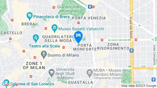 Hotel Indigo Milan - Corso Monforte Map