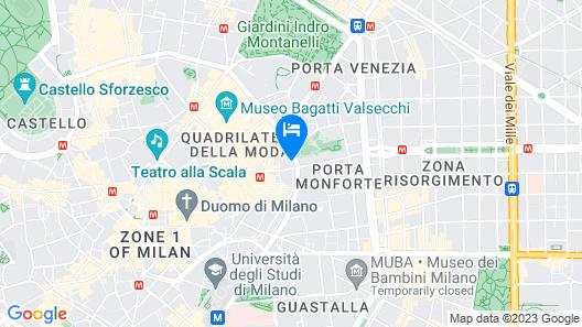 Montenapoleone Suites Map