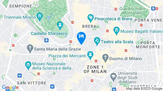Hotel Milano Castello Map