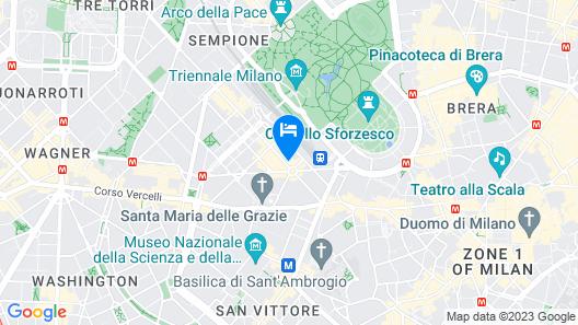 Milano Penthouse - Daplace Apartments Map