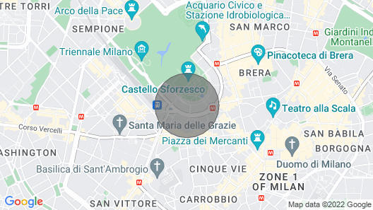 Milan: Elegant and Central Apartment in Front of Castello Sforzesco Map