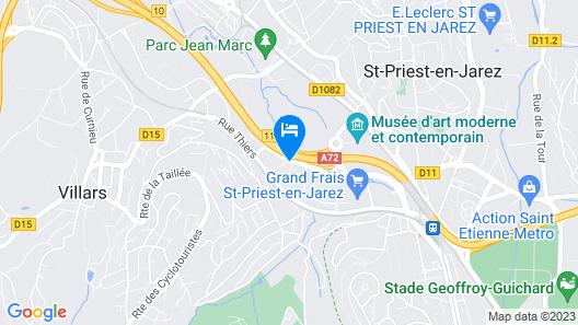 B&B Hotel Saint Etienne - La Terrasse Map