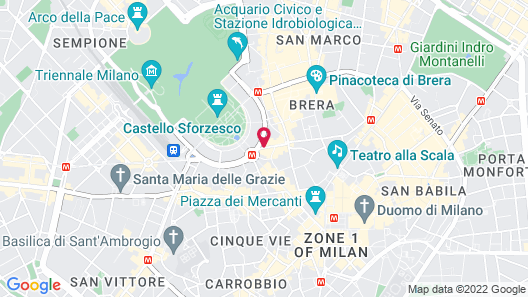 UNAHOTELS Cusani Milano Map