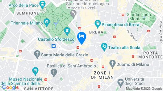 UNAHOTELS Cusani Milano Map