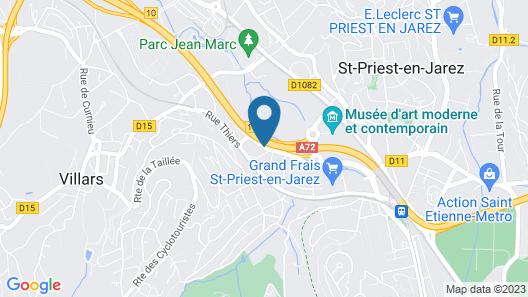 Hotel Campanile Saint Etienne Centre - Villars Map