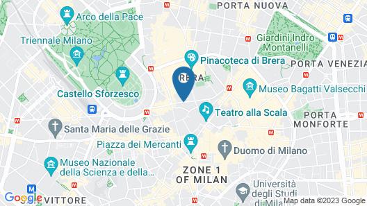 Hotel Milano Scala Map