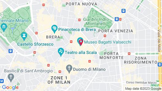 Four Seasons Hotel Milano Map