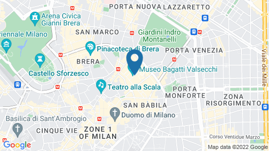 Four Seasons Hotel Milano Map