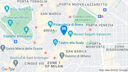 Grand Hotel et de Milan - The Leading Hotels of the World Map