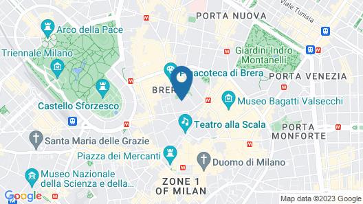 Bulgari Hotel Milan Map
