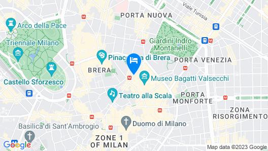 Armani Hotel Milano Map