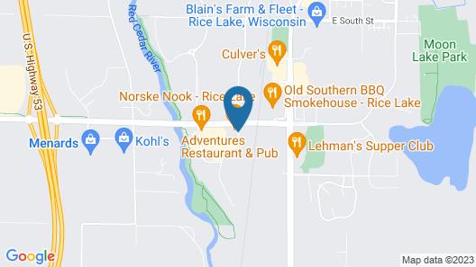 AmericInn by Wyndham Rice Lake Map