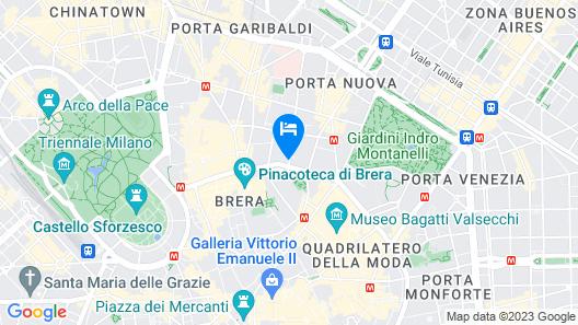 Palazzo Parigi Hotel & Grand Spa Milan Map