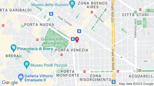 Sheraton Diana Majestic, Milan Map
