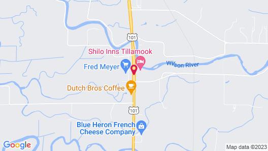 Shilo Inn Suites Hotel - Tillamook Map