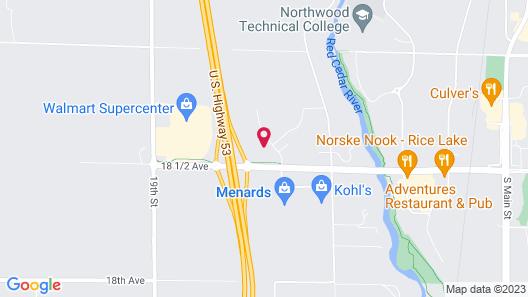 Microtel Inn & Suites by Wyndham Rice Lake Map