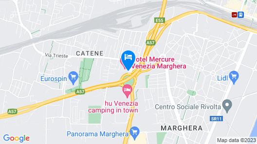 Hotel Mercure Venezia Marghera Map