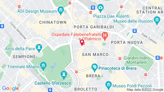 Carlyle Brera Hotel Map