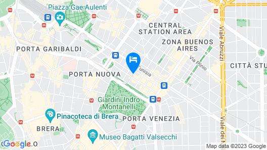 NH Milano Machiavelli Map
