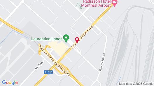 Hilton Garden Inn Montreal Airport Map