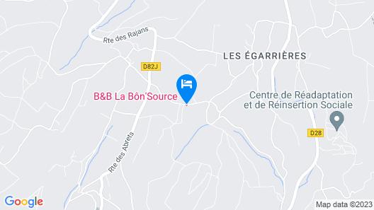 La Bôn'Source chambres d'Hôtes Map