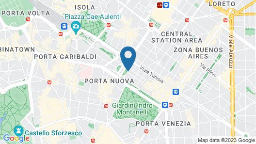 The Westin Palace, Milan Map