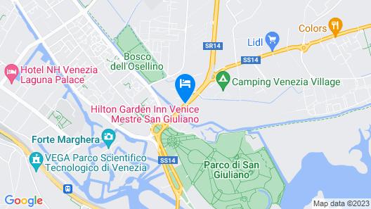 Hilton Garden Inn Venice Mestre San Giuliano Map