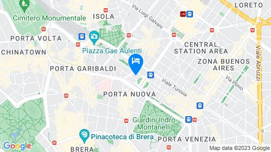 Hotel Principe Di Savoia - Dorchester Collection Map