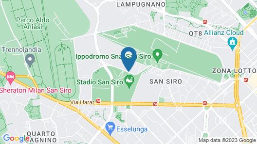B&B Hotel Milano San Siro Map