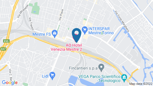 AO Hotel Venezia Mestre Map