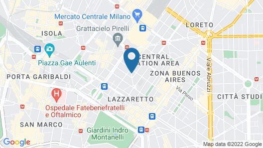 B&B Hotel Milano Central Station Map