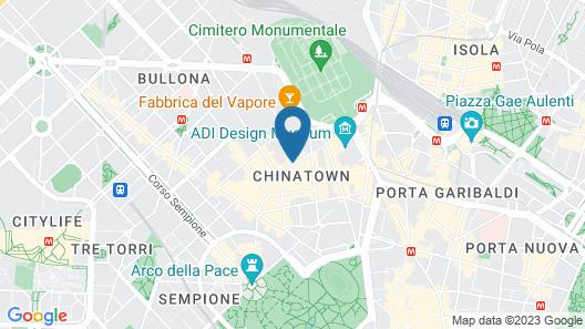 Leonardo Hotel Milan City Center Map
