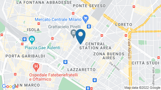 Just Hotel Milano Map
