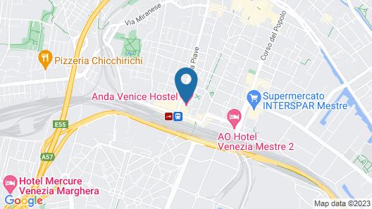 Anda Venice Hostel Map