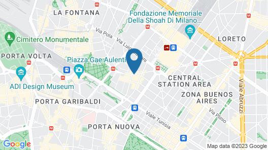 Hyatt Centric Milan Centrale Map