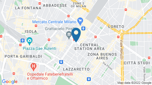 Hotel Glam Milano Map