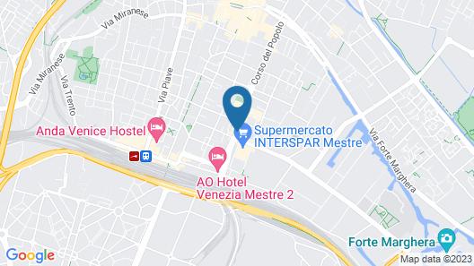 Quality Hotel Delfino Venezia Mestre Map