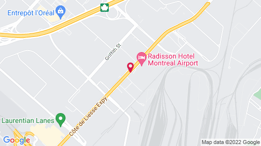 Crowne Plaza Montreal Airport Map