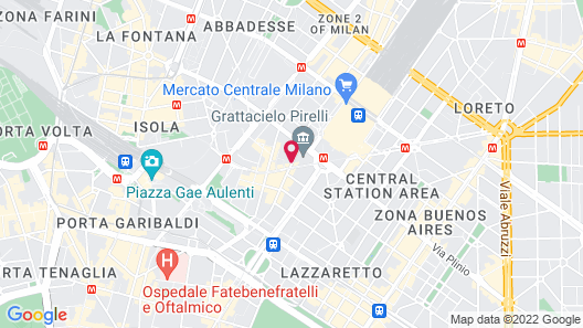 UNAHOTELS Century Milano Map